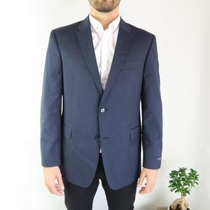 Tommy Hilfiger Navy Two Button Classic Suit Jacket